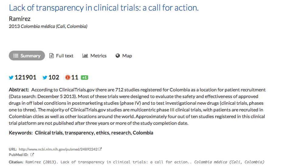 Impactstory  Lack of transparency in clinical trials  a call for action. (2)