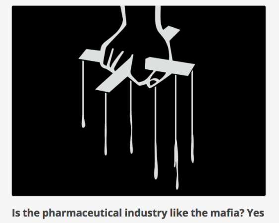 Is the pharmaceutical industry like the mafia  Yes   Chaotic Pharmacology (1)