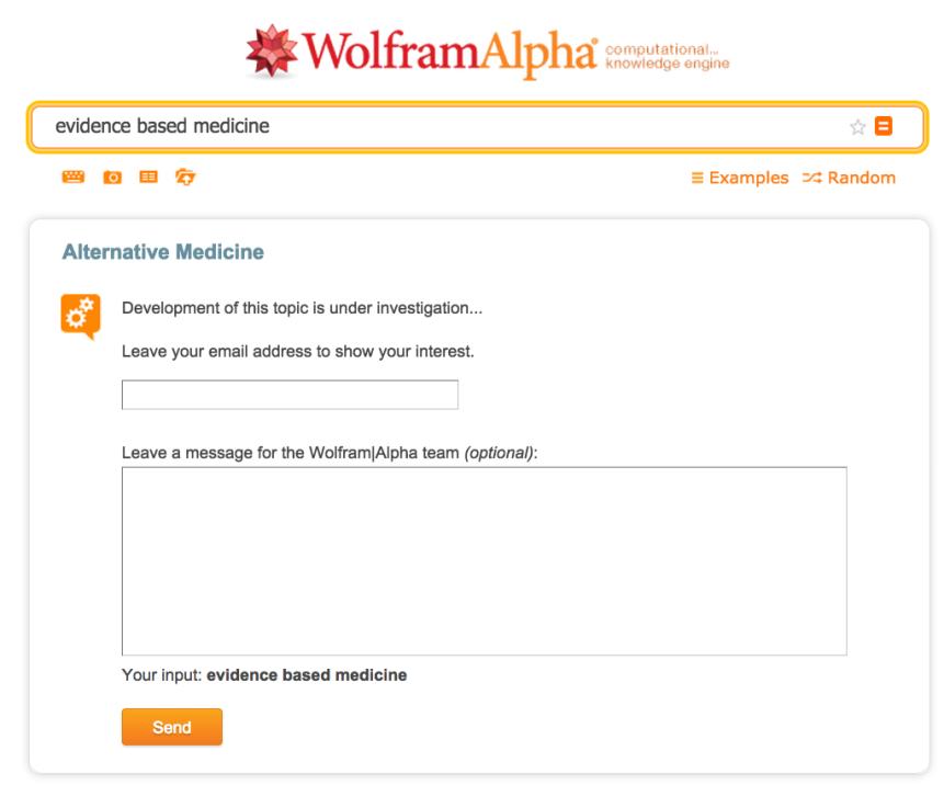 evidence based medicine - Wolfram Alpha (2)