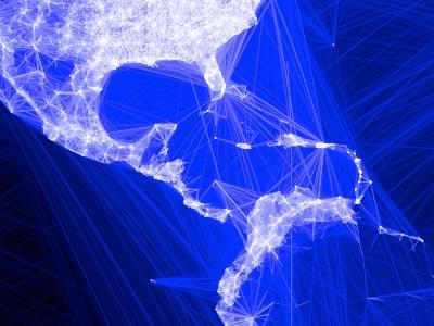 Mapa de contactos de Facebook