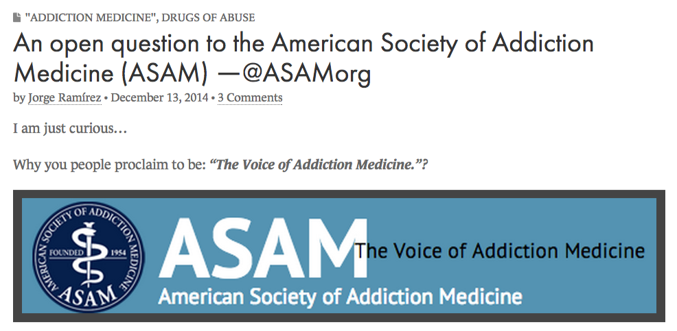 An open question to the American Society of Addiction Medicine  ASAM  ―@ASAMorg   Chaos Theory and Human Pharmacology