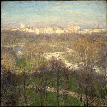 Brooklyn_Museum_-_Early_Spring_Afternoon--Central_Park_-_Willard_Leroy_Metcalf_-_overall