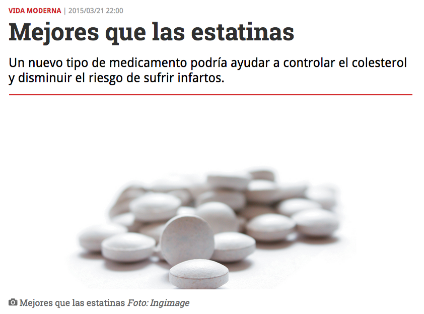 """@RevistaSemana: Mejores que las estatinas"" — (Eng: ""Better than statins"") 