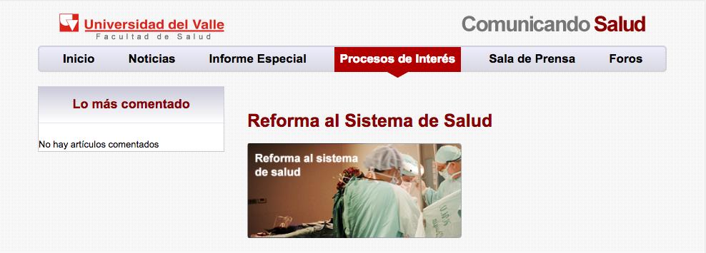 """Re: """"Reforma al Sistema de Salud"""" —@SaludPublicaUV"""