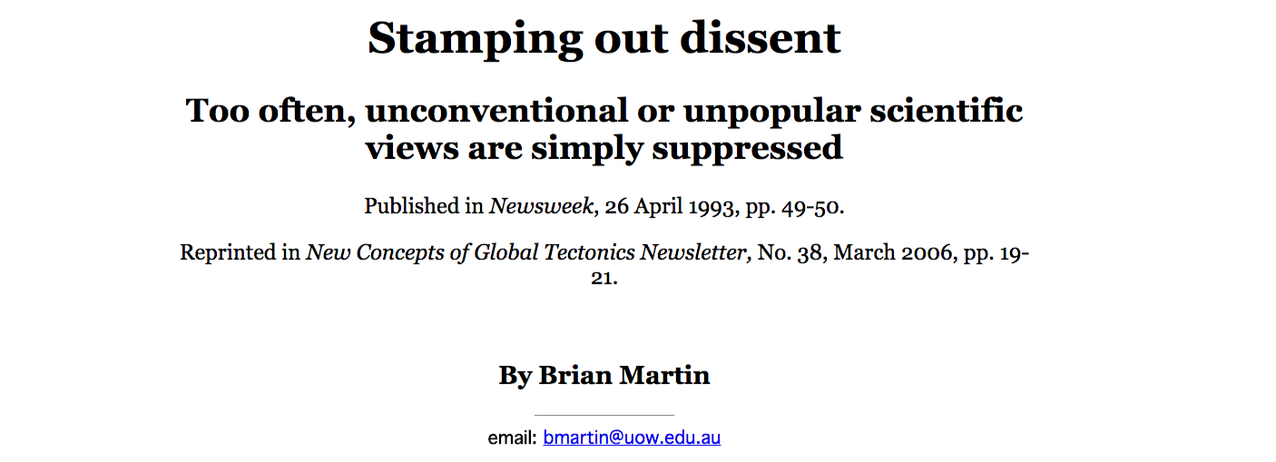 Stamping out dissent – @Univalle_FSalud –