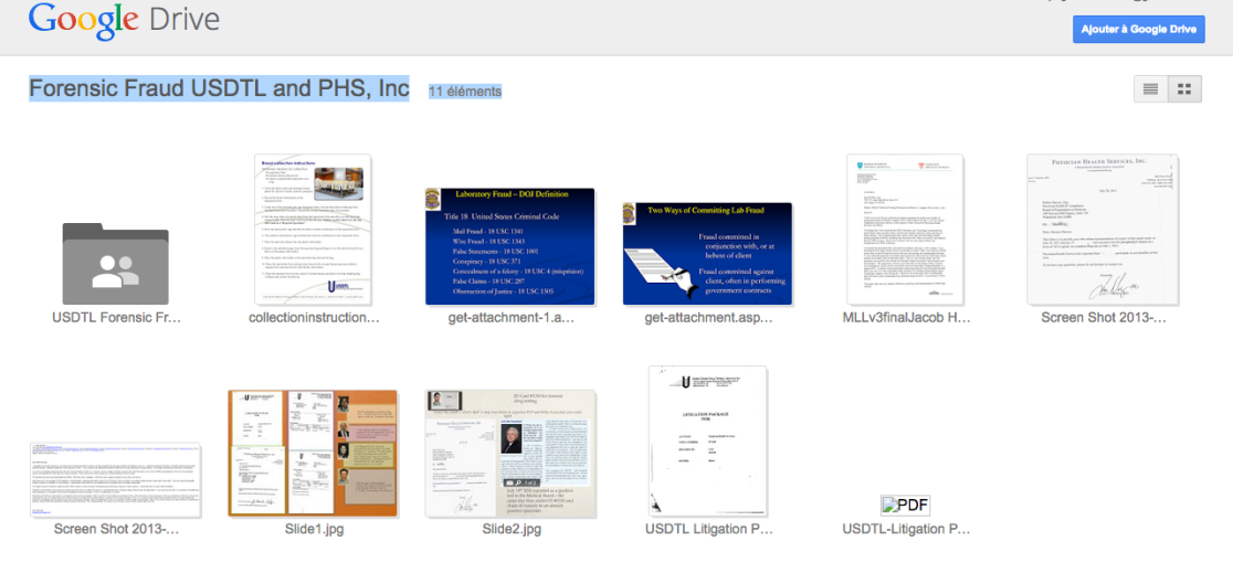 Forensic Fraud USDTL and PHS  Inc