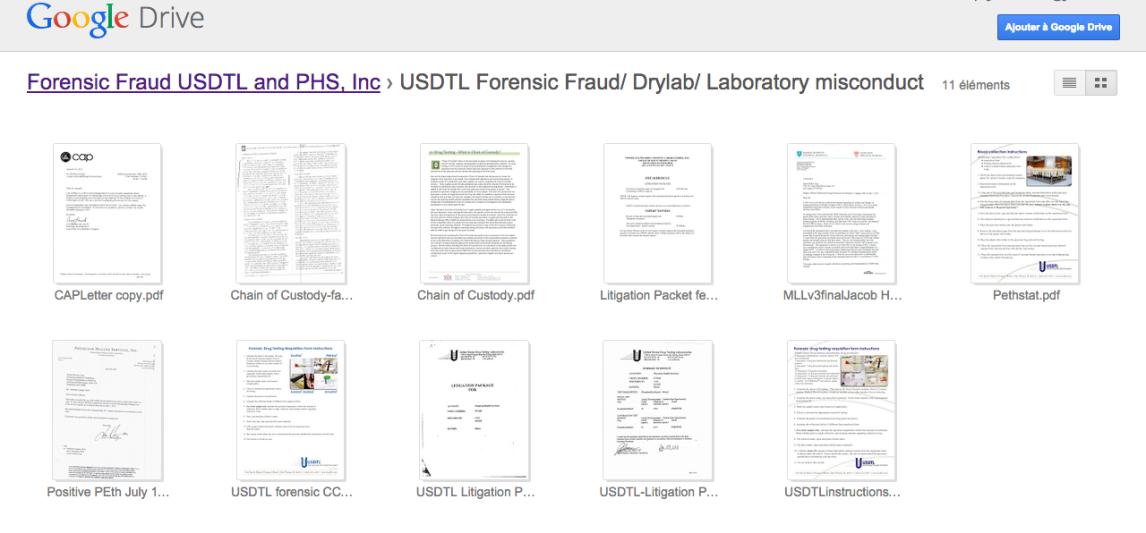USDTL Forensic Fraud  Drylab  Laboratory misconduct