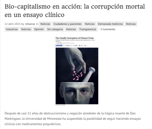 Bio capitalismo en acción  la corrupción mortal en un ensayo clínico   nogracias.eunogracias.eu
