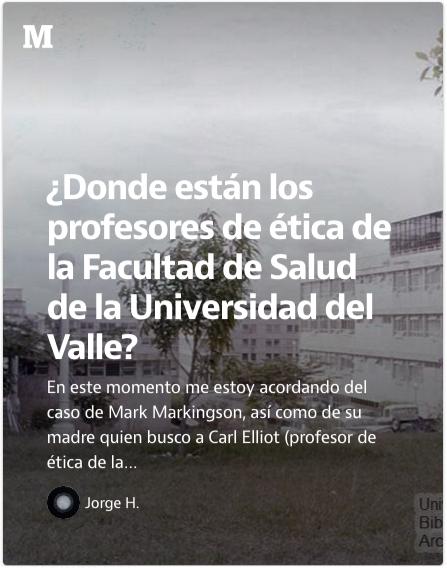 ¿Donde están los profesores de ética de la Facultad de Salud de la Universidad del Valle  — Medium