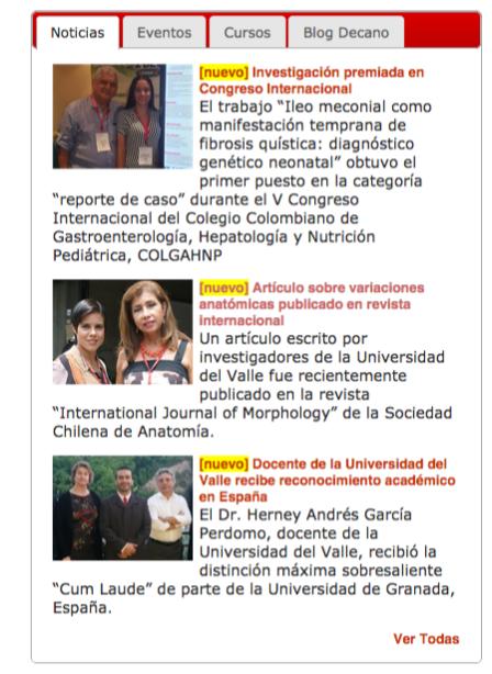 Facultad de Salud   Universidad del Valle  Cali, Colombia  (1)