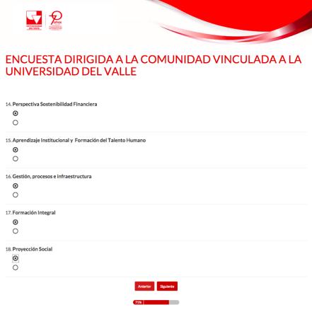6ENCUESTA DIRIGIDA A LA COMUNIDAD VINCULADA A LA UNIVERSIDAD DEL VALLE