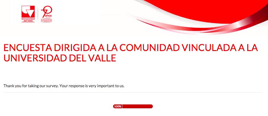 9ENCUESTA DIRIGIDA A LA COMUNIDAD VINCULADA A LA UNIVERSIDAD DEL VALLE