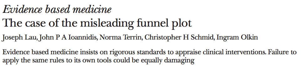 The case of the misleading funnel plot — The BMJ 2006