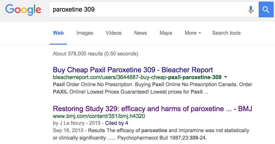 Paroxetine Study 309/248