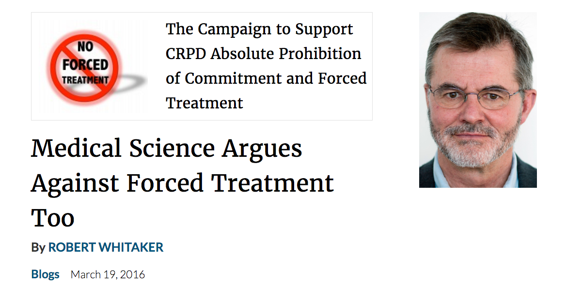 Mad in America: Medical Science Argues Against Forced TreatmentToo
