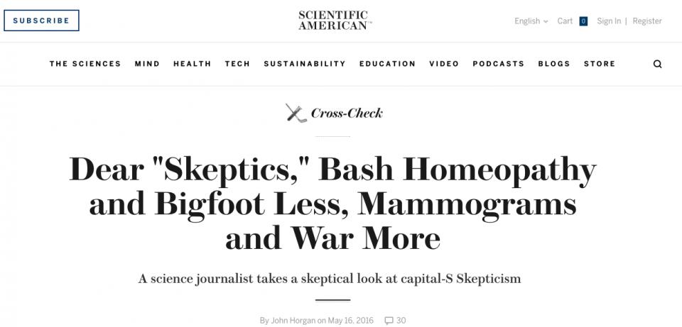 Análisis escéptico del escepticismo(*)