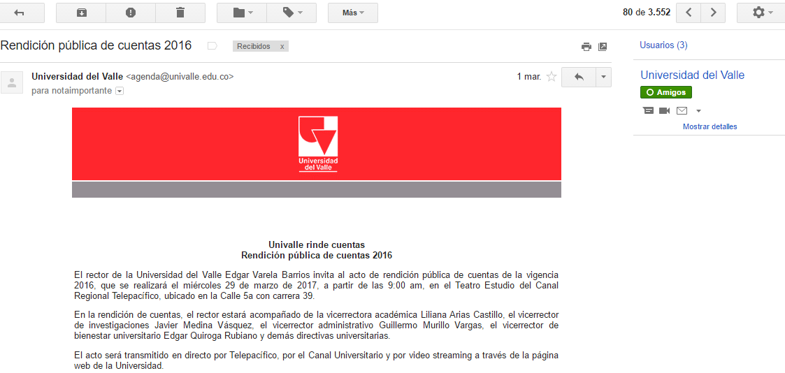Protected: Closed Letter / Carta Cerrada (1°) – rector @UnivalleCol [Password: Prevaricate]